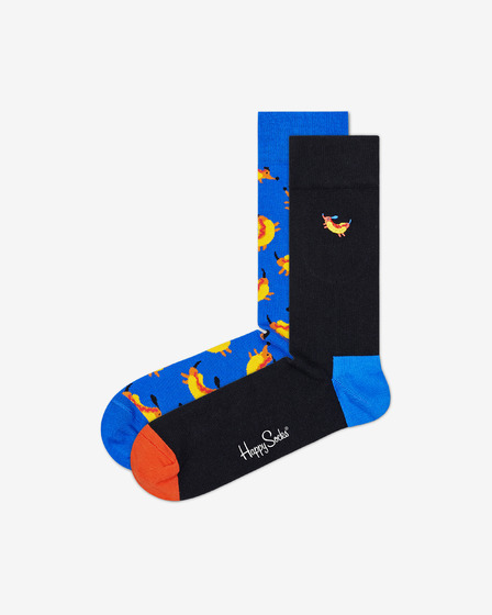 Happy Socks Hot Dog Dog 2-pack Čarape