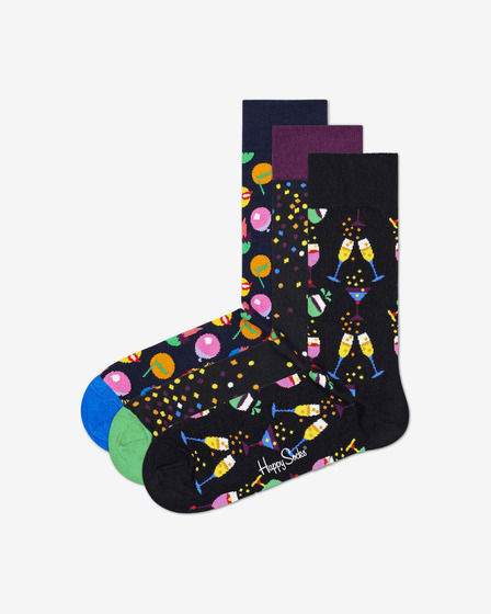 Happy Socks Celebration 3-pack Čarape