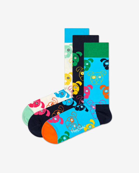 Happy Socks Dog Gift Box 3-pack Čarape
